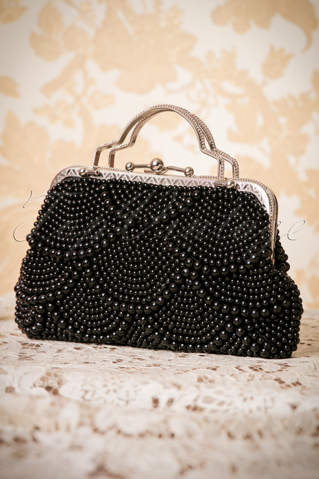 1920s Accessories | Great Gatsby Accessories Guide 20s Agnes Beaded Handbag in Black £48.64 AT vintagedancer.com