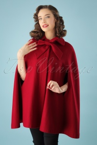 50s Caroline Cape Coat in Red