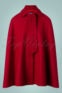 Collectif Clothing Caroline Cape Coat in Red 24775 20180704 0008W