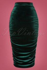 Vintage Chic Plain Velvet Skirt 120 40 28012 20181016 0005W