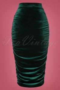 Vintage Chic Plain Velvet Skirt 120 40 28012 20181016 0005W