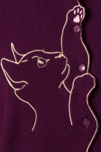 Banned Cat Scallop Collar Cardigan Purple 26242 20180705 0004