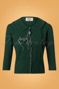 Banned Cat Scallop Collar Cardigan Green 26242 20180705 0002W