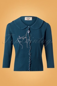 Banned Cat Scallop Collar Cardigan Blue 26244 20180705 0002W
