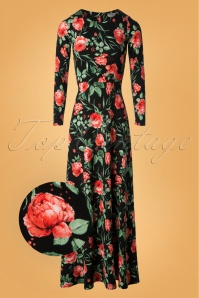 Vintage Chic Black Red Floral 108 14 28049 20181018 003v