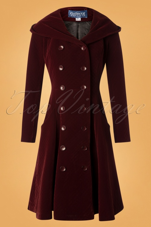 Collectif Clothing Wine Heather Quilt 152 20 27488 20181018 003W
