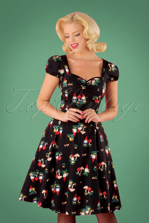 Collectif Clothing Mimi Gnome Doll Dress in Black 24805 20180627 01