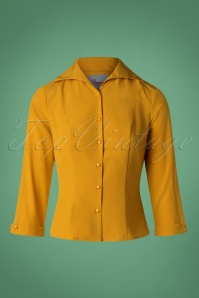Banned Retro Mustard Janine Blouse 112 80 26704 20181018 002W
