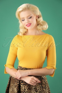 Banned Oonagh Basic Top in Mustard 26250 20180718 01W