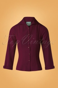 Banned Retro Burgundy Janine Blouse 112 20 26706 20181018 002W