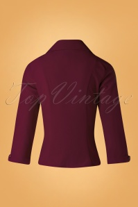 Banned Retro Burgundy Janine Blouse 112 20 26706 20181018 004W