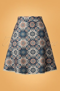 Banned Retro Multi 70s Tile Skirt 123 39 26180 20181018 011W