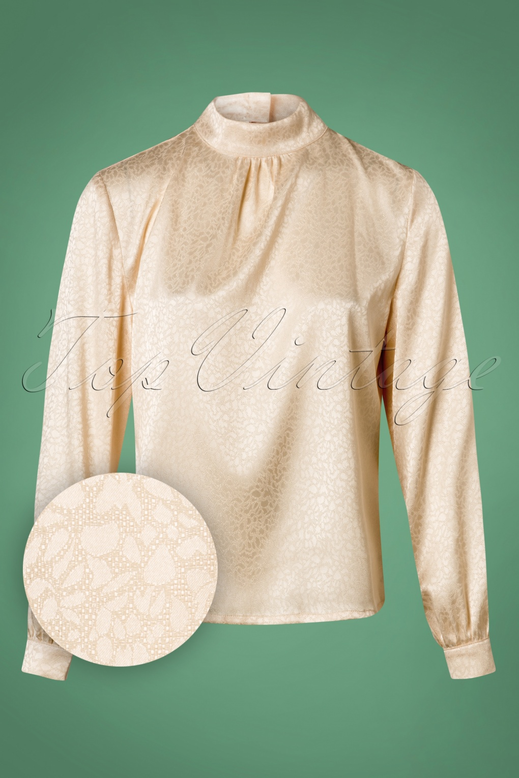 1950s Rockabilly & Pin Up Tops, Blouses, Shirts 40s Natalie Blouse in Cream £25.43 AT vintagedancer.com
