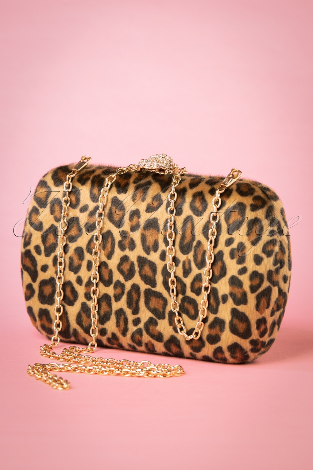 1950s Handbags, Purses, and Evening Bag Styles 50s Lila Hard-Case Clutch in Leopard £14.42 AT vintagedancer.com