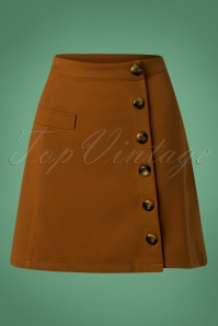 60s Beatrice Skirt in Tobacco