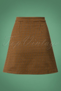 Banned Bella Check A Symetric Brown Skirt 26160 20180719 0007W