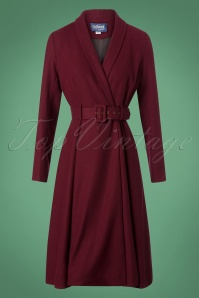 Collectif Clothing Dawn Swing Coat in Wine 152 20 24784 20180704 010W