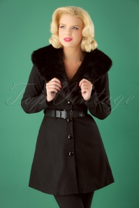 50s Skylar Coat in Black