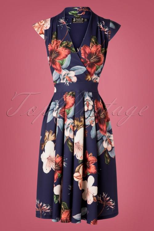 Lady V Eva Dress in Hibiscus  102 39 28060 20181012 0002W