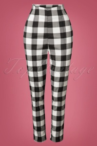 Collectif Clothing Bonnie Gingham Trousers 131 14 24875 20180627 014W