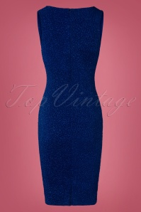 Vintage Chic Royal Blue Glitter Dress 100 30 28008 20181019 031W