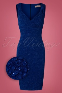 Vintage Chic Royal Blue Glitter Dress 100 30 28008 20181019 025Z