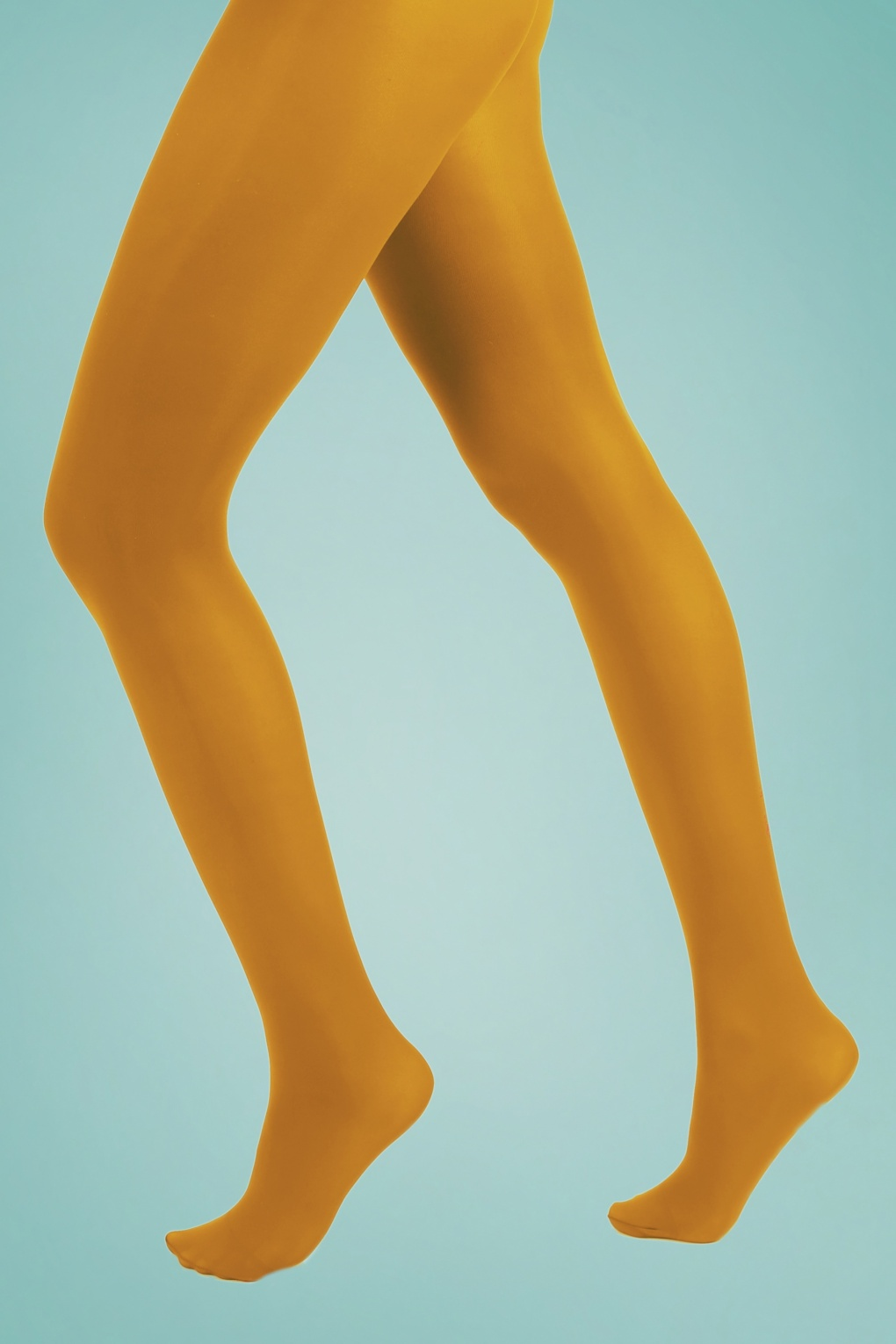 Vintage Socks | 1920s, 1930s, 1940s, 1950s, 1960s History 60s Opaque Tights in Mustard £6.03 AT vintagedancer.com