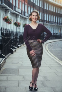 60s Ritzy Tube Skirt in Bordeaux