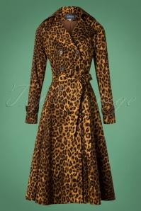 50s Scarlett Swing Trench Coat in Leopard