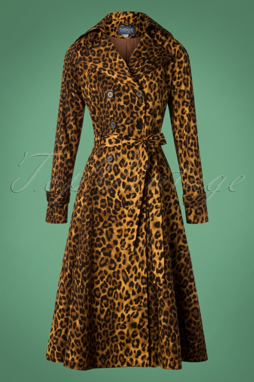 Collectif Clothing Scarlett Leopard Print Trench Coat 151 79 27489 20181023 008W
