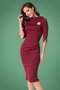 Unique Vintage Lucinda Wiggle Dress 100 20 27681 1