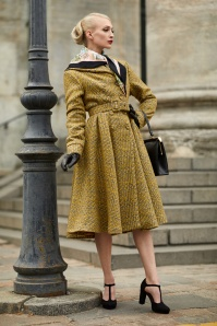 50s Garance Boucle Coat in Yellow