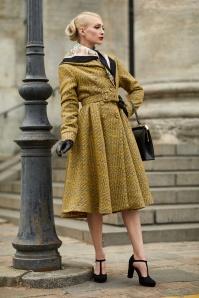 Garance Boucle Coat Années 50 en Jaune