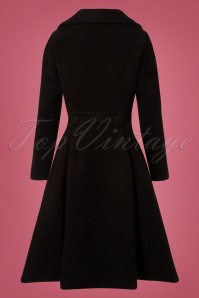 Hearts and Roses 50s Lauren Black Coat 152 10 28285 20181024 008W