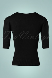 Collectif Clothing Chrissie Plain Knitted Top Black 27494 20180921 0005W
