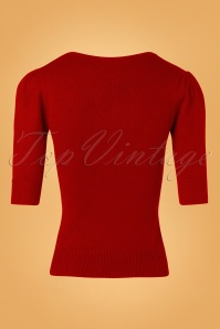 Collectif Clothing Chrissie Plain Knitted Top Red 27495 20180921 0005W