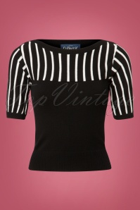 Collectif Clothing Shannon Stripe Knitted Top 113 10 24794 20180626 002W
