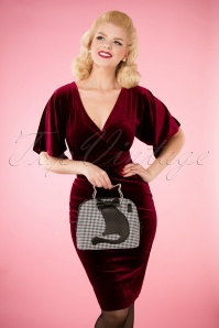 Banned Retro Dixie Handbag Houndstooth 212 14 26167 10042018 010W