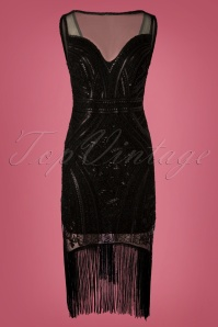 Stella Morgan Black Flapper Dress 28296 20181019 033W