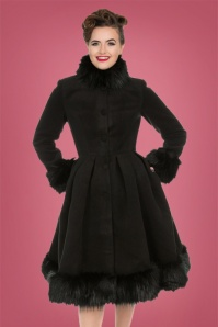 Hearts and Roses Black Fake Fur Coat 152 10 28284 20181024 1
