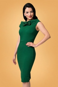 60s Barbie Sheath Dress in Emerald Green