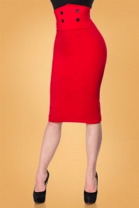 Bellissima Pencil Skirt in Red 120 20 28386 2W