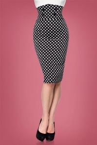 Bellissima Polkadot Pencil Skirt 28384 2