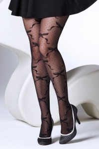 Gipsy Polka Dot Bow Tights Black 171 14 28275 20181011 0001