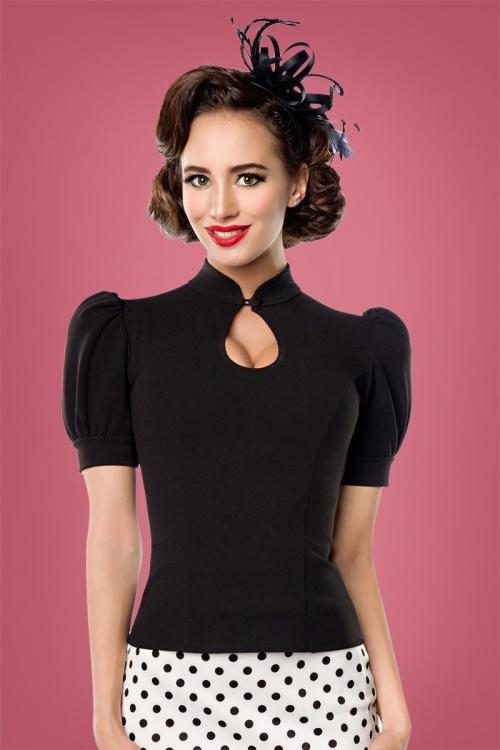 Bellissima Jersey Blouse in Black 112 10 28383 1