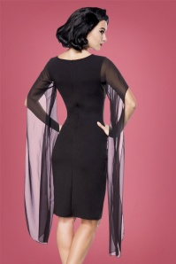 Bellissima Retro Dress in Black 100 10 28381 3