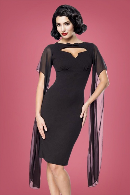 Bellissima Retro Dress in Black 100 10 28381 2