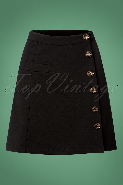 60s Skirts | 70s Hippie Skirts, Jumper Dresses 60s Beatrice Skirt in Black �25.99 AT vintagedancer.com