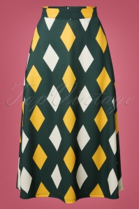 60s Diamond Skirt in Green