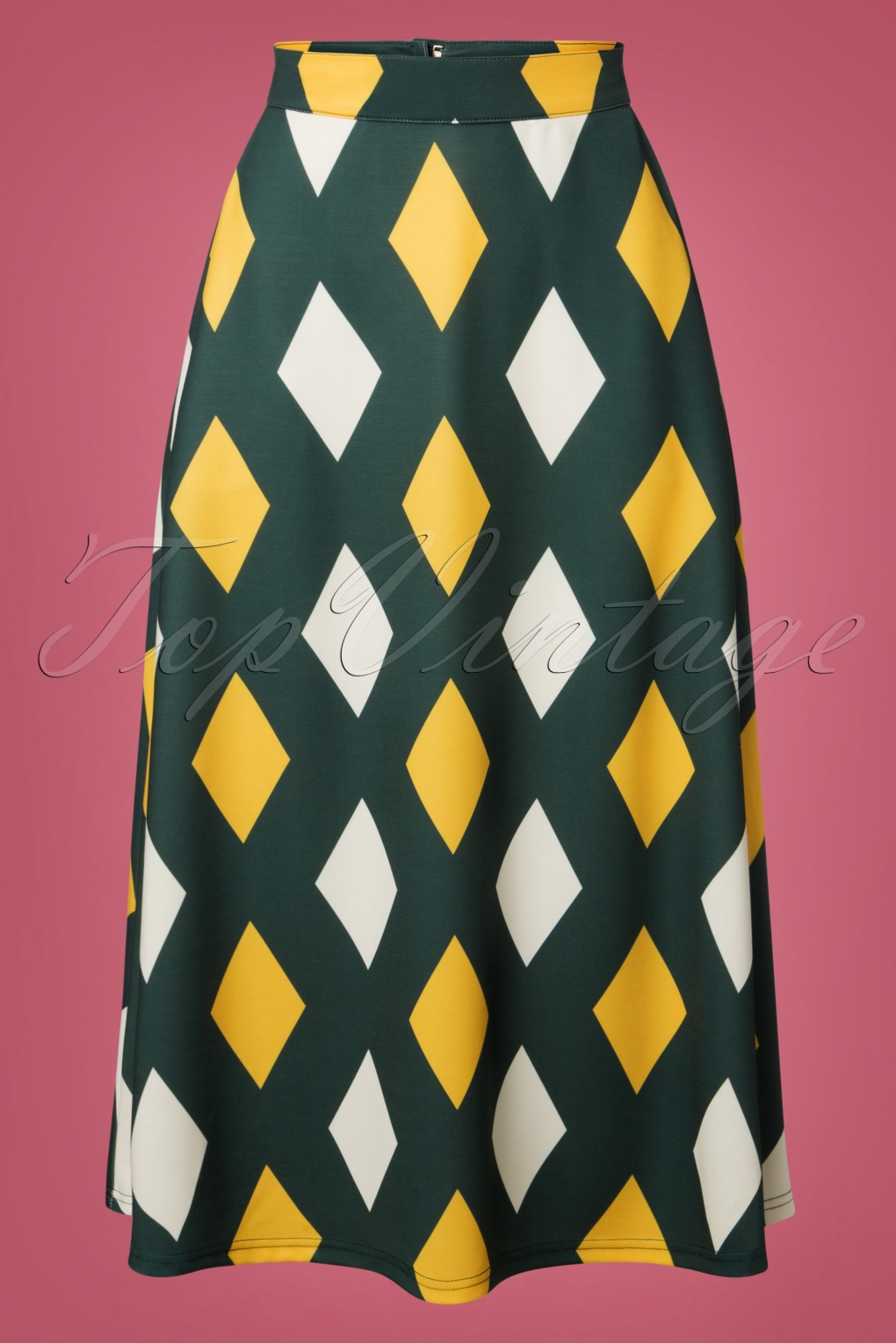 1960s Style Dresses, Clothing, Shoes UK 60s Diamond Skirt in Green £32.23 AT vintagedancer.com